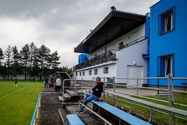 Útulný areál dětmarovického sportovního klubu.