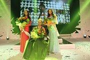 Miss Reneta 2017 v Havířově. Miss Reneta 2017 Xénia Gregušová. Druhá Diana Šeděnková a třetí Kateřina Kučerová ze Šumperka.