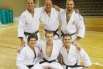 Alexandr Jurečka (nahoře vpravo) v týmu extraligového Liberce.