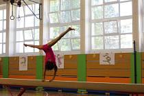 Soutěž malých gymnastek v Karviné.