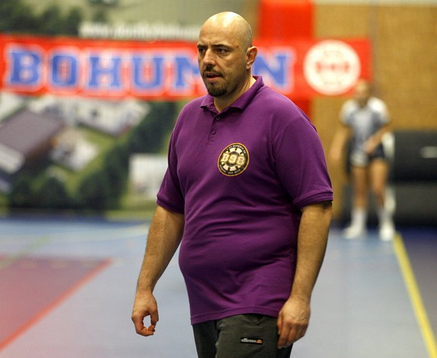 Druhý trenér na bohumínské lavičce Petr Janoš.