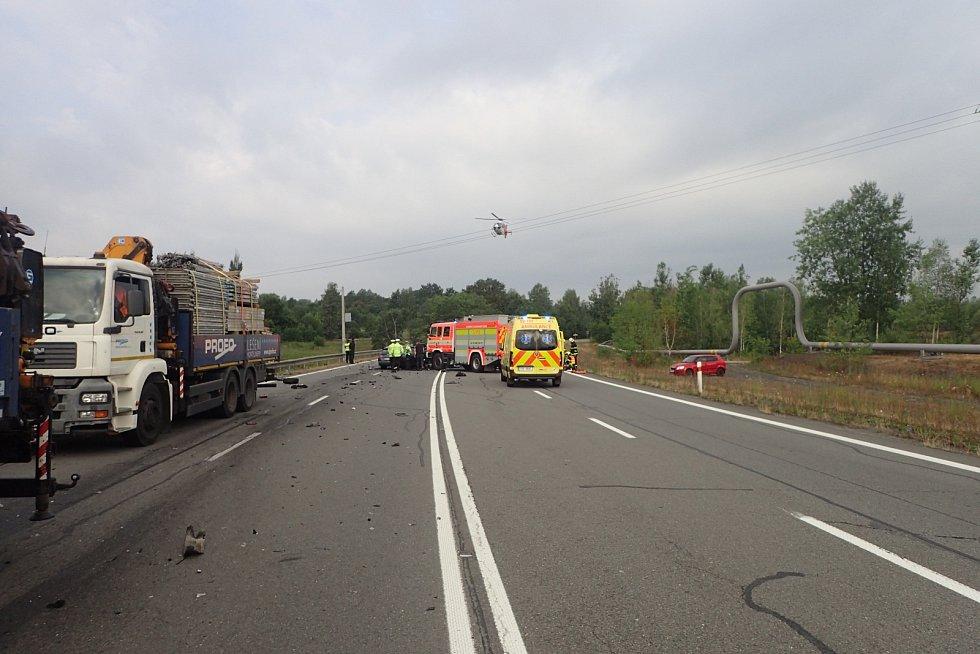 Snímek z místa nehody v Orlové.