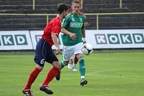 Richard Vaclík (v zeleném) dal Hranicím hattrick.