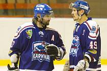 David Moravec (vlevo) a Marek Ivan, představitelé karvinského klubu.