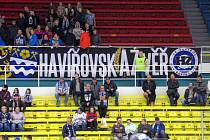 Kotel fanoušků havířovského hokejového klubu.