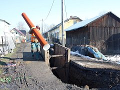 Stavba kanalizace ve Věřňovicích potrvá celý rok.
