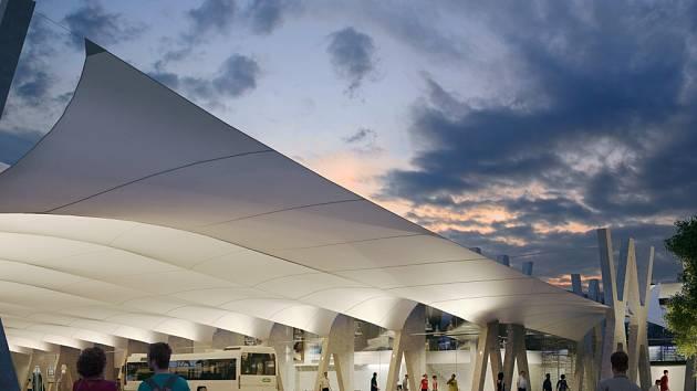 Vizualizace budoucí podoby havířovského dopravního terminálu.