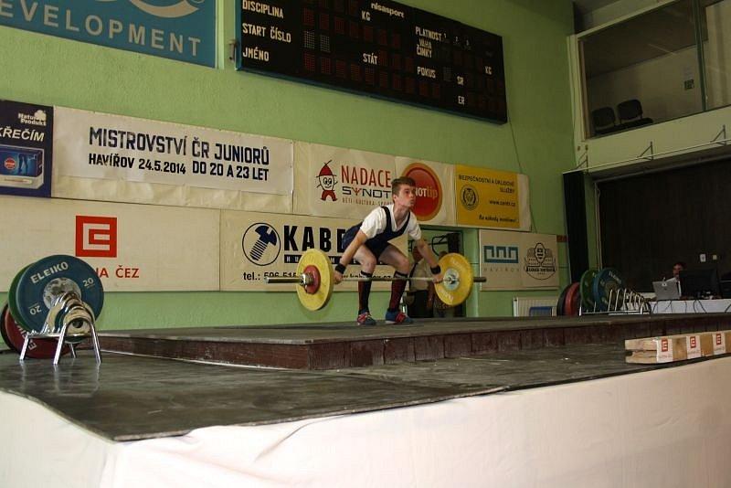 Mistrovství juniorů ve vzpírání v Havířově.