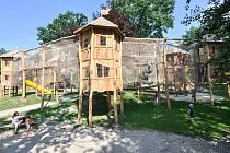 Mauglího stezka v bohumínském parku Petra Bezruče.