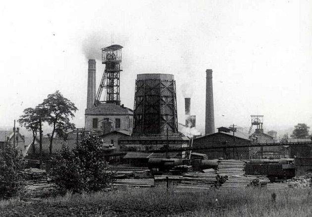 Karviná, Důl ČSA, jáma Jan. rok 1930.