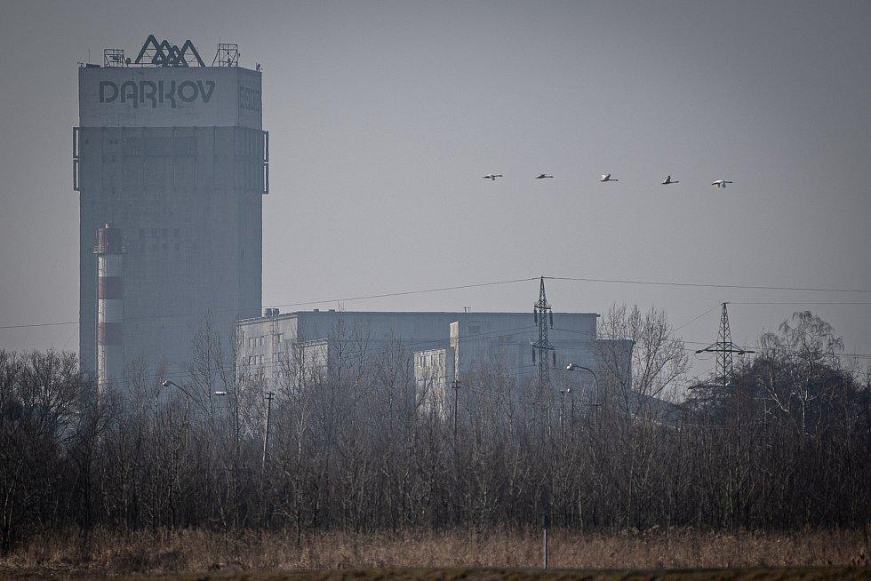 Důl Darkov, 22. února 2021 na Karvinsku.