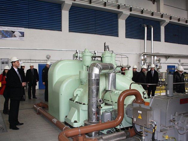 Nová turbína teplárny v areálu Dolu ČSM