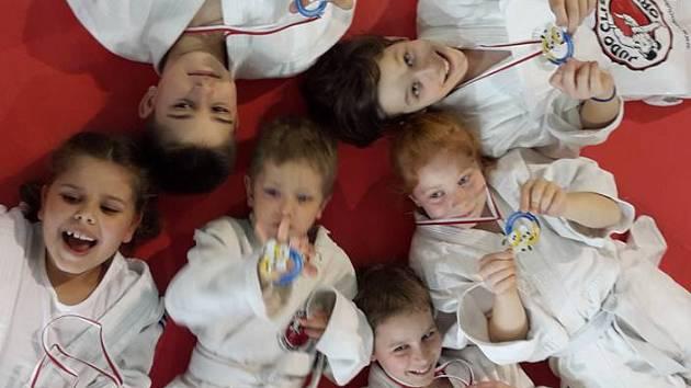 Nejmenší judisté Karviné na turnaji přípravek v Orlové.