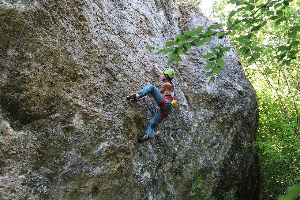 Těrlicko, lezkyně Mariana Janošová. Foto: Marcel Janoš