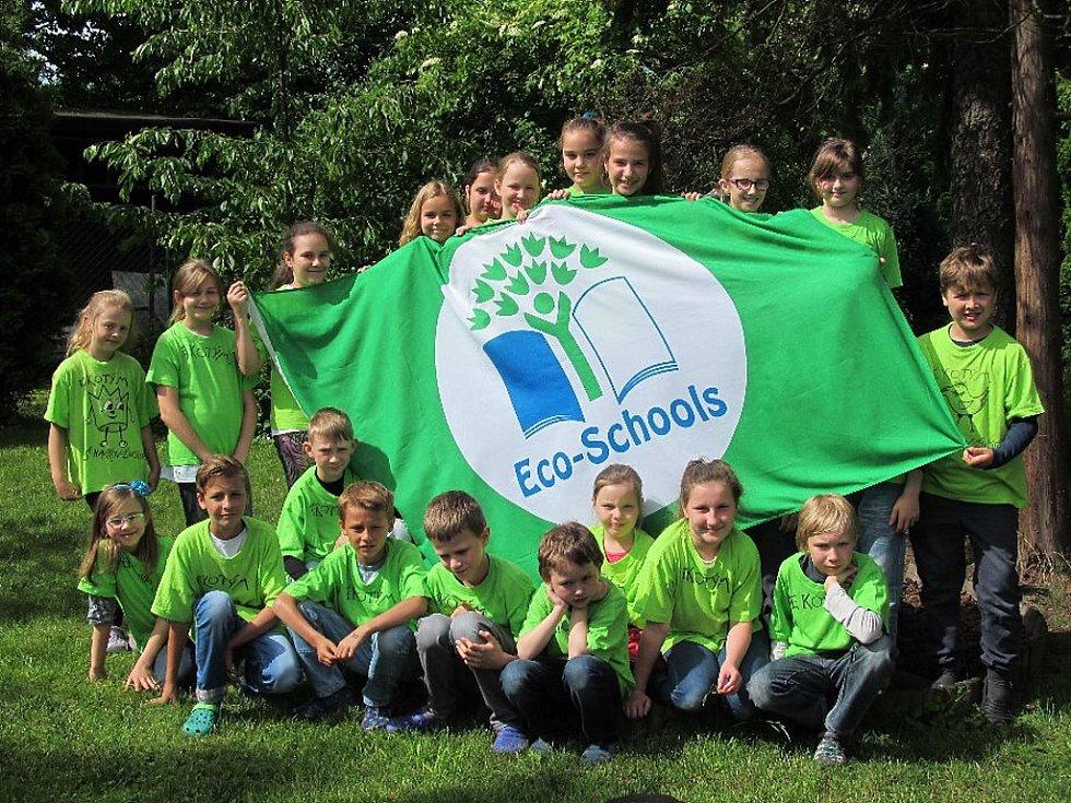 Ekoškola ZŠ Zelená v Havířově-Životicích.