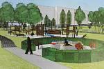 Vizualizace možné podoby parku Sponzorů v Havířově.