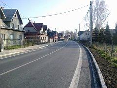 Nová silnice v Petrovicích.