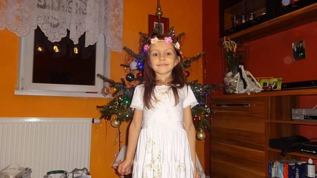 Vnučka Sárinka přeje všem čtenářům hodně zdraví a pohody do roku 2020.