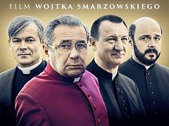Plakát nového polského filmu Klér o čtveřici kontroverzních kněží. Foto: kler.pl