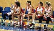 Z utkání I. ligy basketbalistek: Havířov (v bílém) - Jablonec nad Nisou.