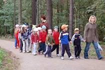 Do orlovského lesoparku často chodí nejen učitelky s předškolními dětmi, ale také mnoho místních obyvatel.