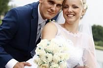 """Veronika a Tomáš Martinkovi z Karviné si řekli své """"ano"""" 6. srpna 2016 na zámku Fryštát."""