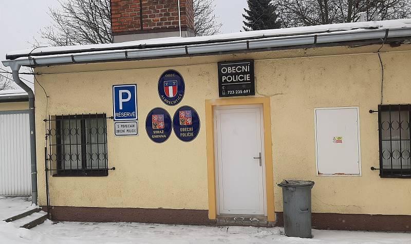 Obecní policie v Albrechticích.
