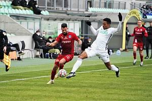 Fotbalisté Karviné prohráli sobotní utkání 24. kola FORTUNA:LIGY s Olomoucí 0:1.