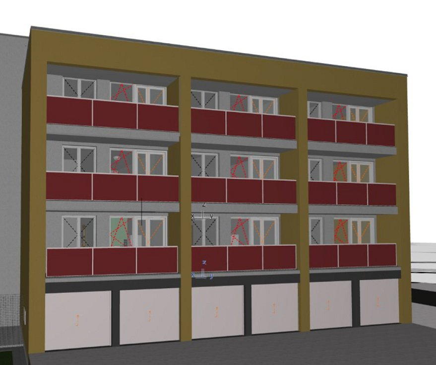 Takto by měl vypadat objekt bývalé ubytovny Kosmos v Karviné po snížení o pět pater a rekonstrukci.