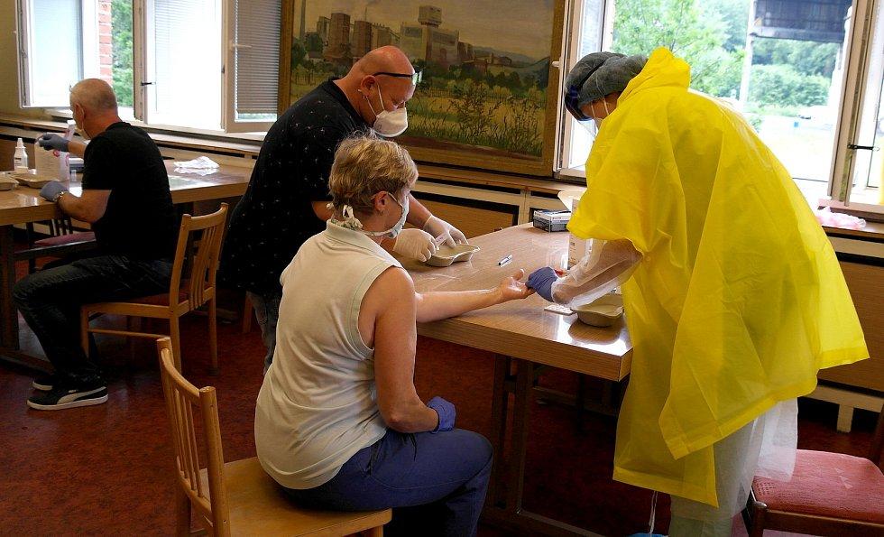Testování na koronavirus v OKD.