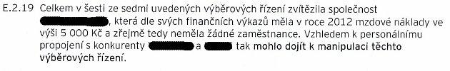 Výňatek zforenzního auditu MRA Havířov.