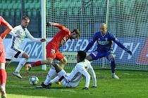 Fotbalisté MFK Karviná remizovali v utkání 22. kola FORTUNA:LIGY s Brnem 1:1 (7. 3. 2021).