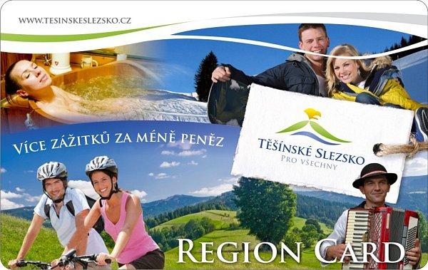 Těšínské Slezsko Region Card.