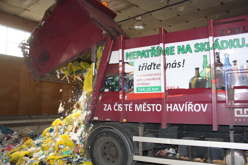 Dotřiďovací linka Technických služeb Havířov.