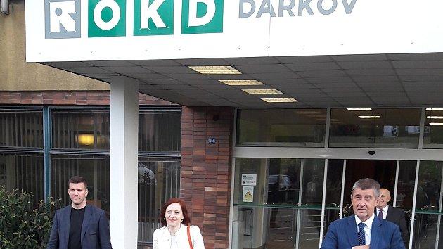 Andrej Babiš po jednání na OKD.