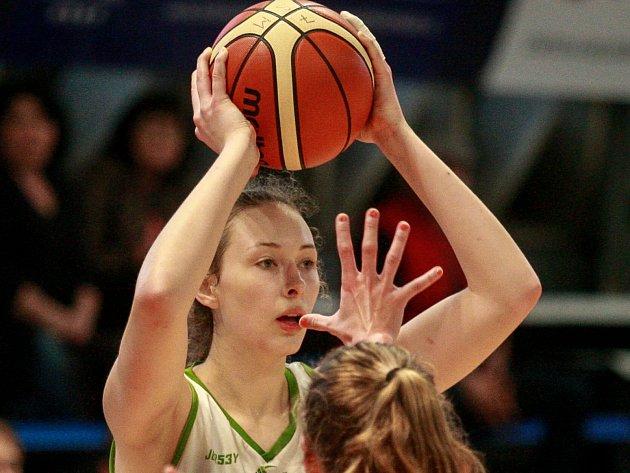 Anežka Kopecká v akci.
