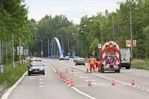Změna v řešení jízdních pruhů.