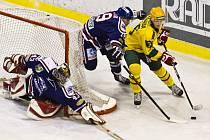 Hokejisté Karviné nestačili ve Vsetíně na domácí.