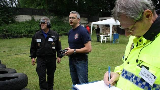 Střelecká soutěž strážníků a policistů v Havířově.