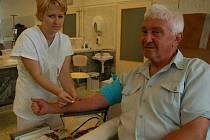 Darovaná krev - síla života.