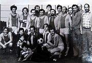 Fotbalové mužstvo DMH, vítěz finále domovů OKR v roce 1983.