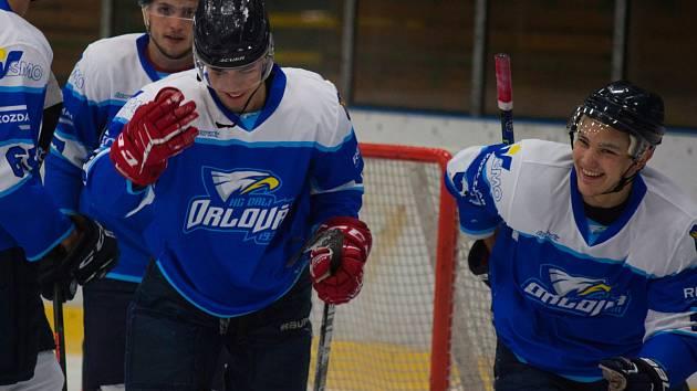 Orlovští hokejisté měli po delší době důvod k úsměvu. Pelhřimov v záchranářském souboji vypráskali 10:0.