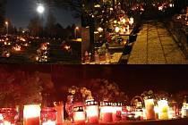 Centrální hřbitov Karviná, 31. října 2020.
