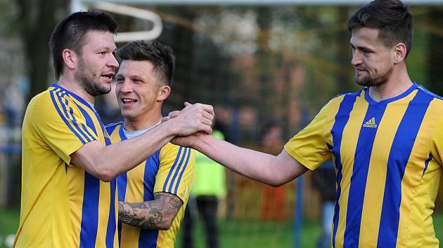 Jaroslav Kubinski (vlevo) se loučí s fotbalovou kariérou.