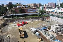 V Orlové pokračuje výstavba podzemních garáží a nového náměstí v centru města.