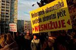 Demonstrace v Orlové, 17. ledna 2019.