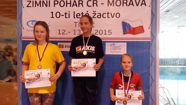 Anežka Šídlová (vpravo) brala zMČR individuální medaili.