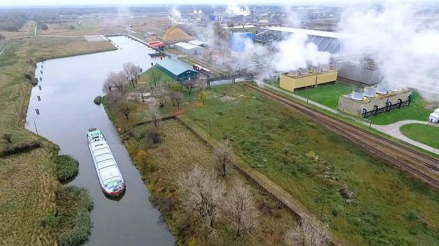 Průplav DOL v Polsku - Kiedzierzyn Koźle.
