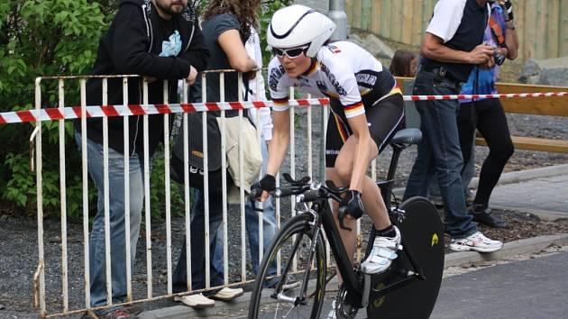 V Petřvaldě se jel cyklistický závod.