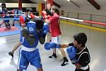 Trénink mladých havířovských boxerů.
